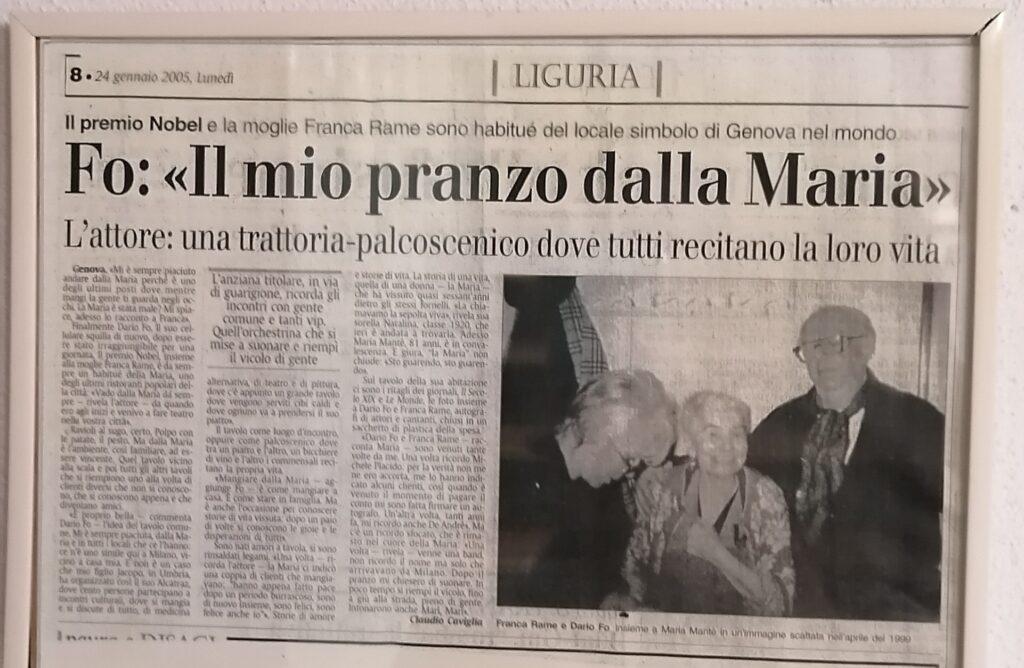 Dario Fo Trattoria da Maria